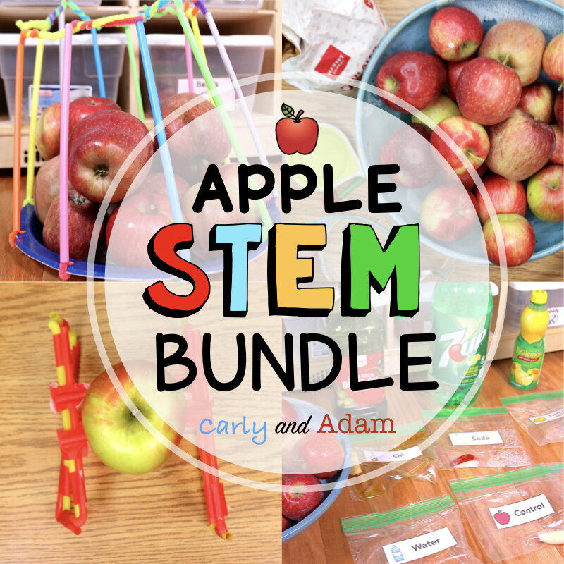Apple STEM Challenges and Apple Science Experiments Bundle