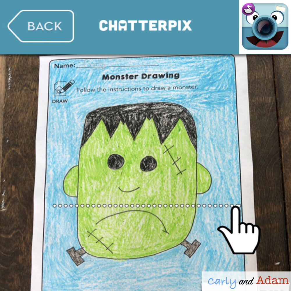 Monster STEAM Freebie with ChatterPix App