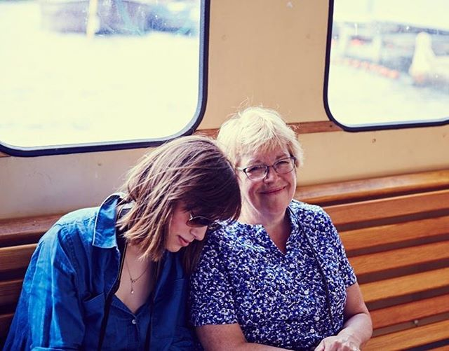 Celebrating mothers of all kinds today. Here's mom & me on the Stockholm ferry during a special family trip. Photo taken by my cousin Stef, the most loving dog mom there ever was 💙 @stefanie.andersson