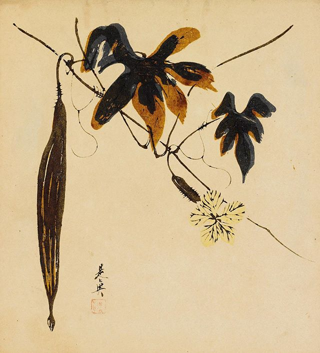 The most beautiful vegetable. Shibata Zeshin circa 1870