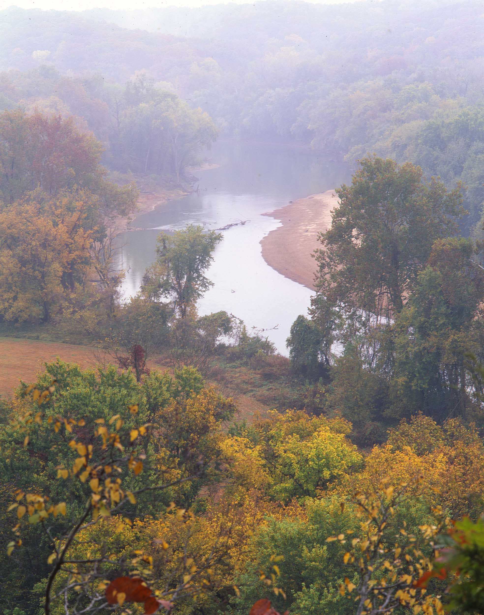 VIEW OF THE MERAMEC RIVER FROM CASTLEWOOD PARK