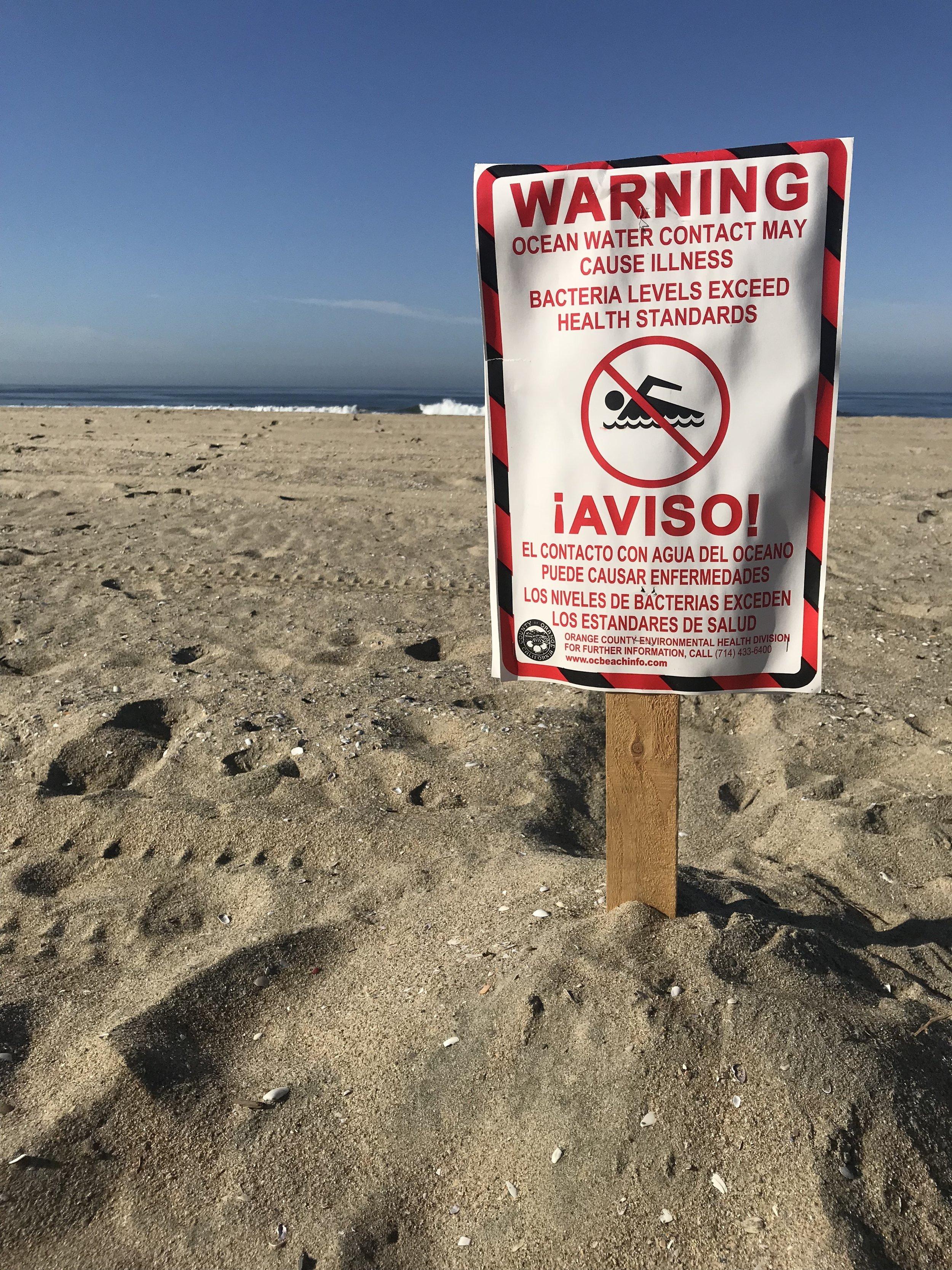 April 21st Huntington Beach, CA -Water Quality Warning