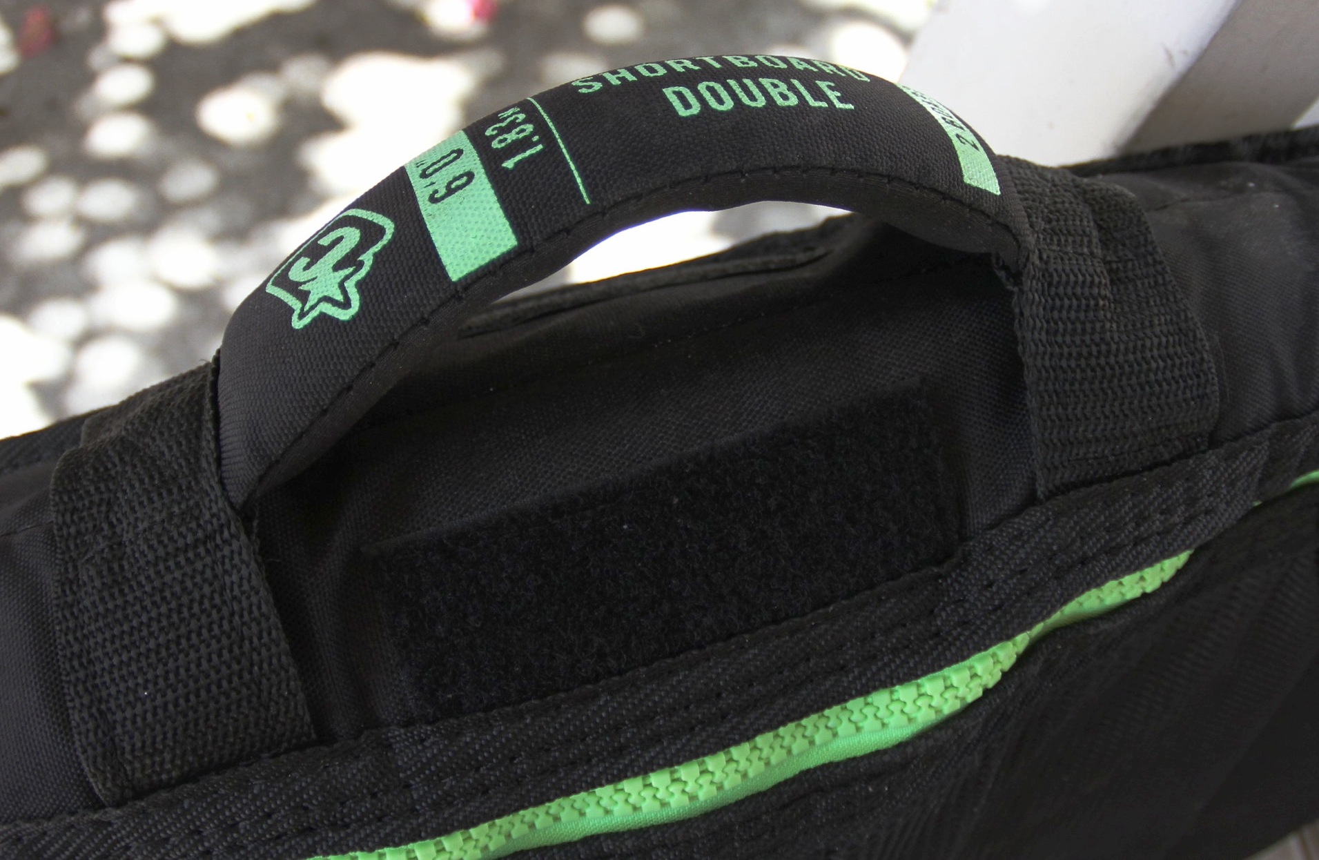 Sturdy handle with encased foam and web for comfort and durability. Box X stitches on both sides.