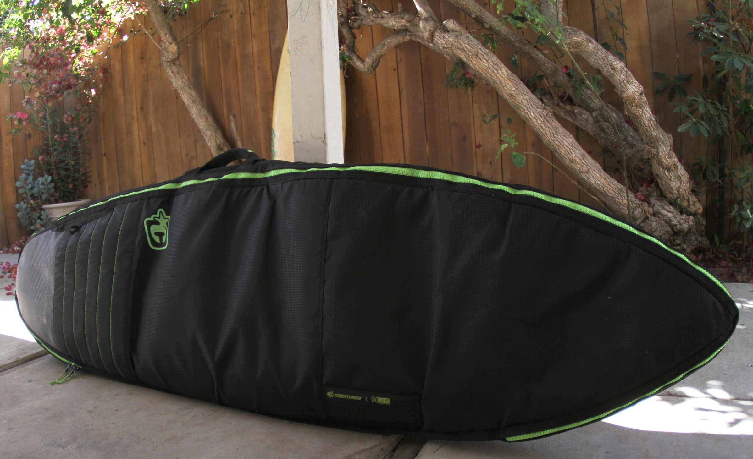 The 6'0 shortboard double filled with 2 boards.