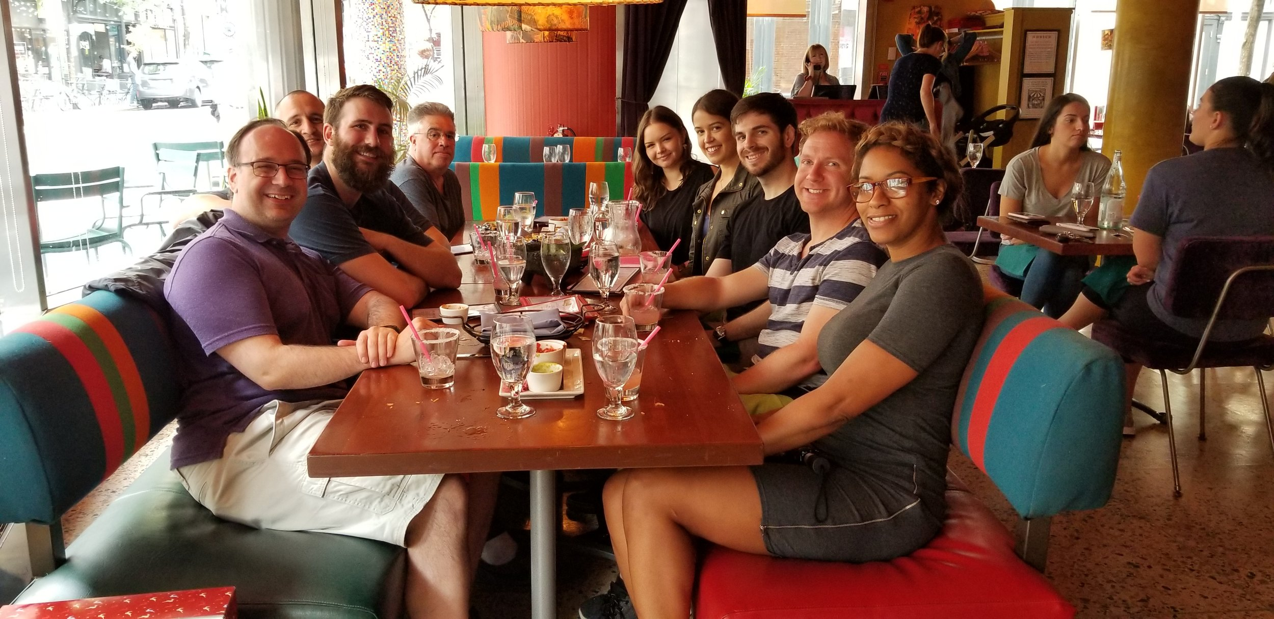 We sent off Lucas in style with a group lunch at El Vez in Center City!