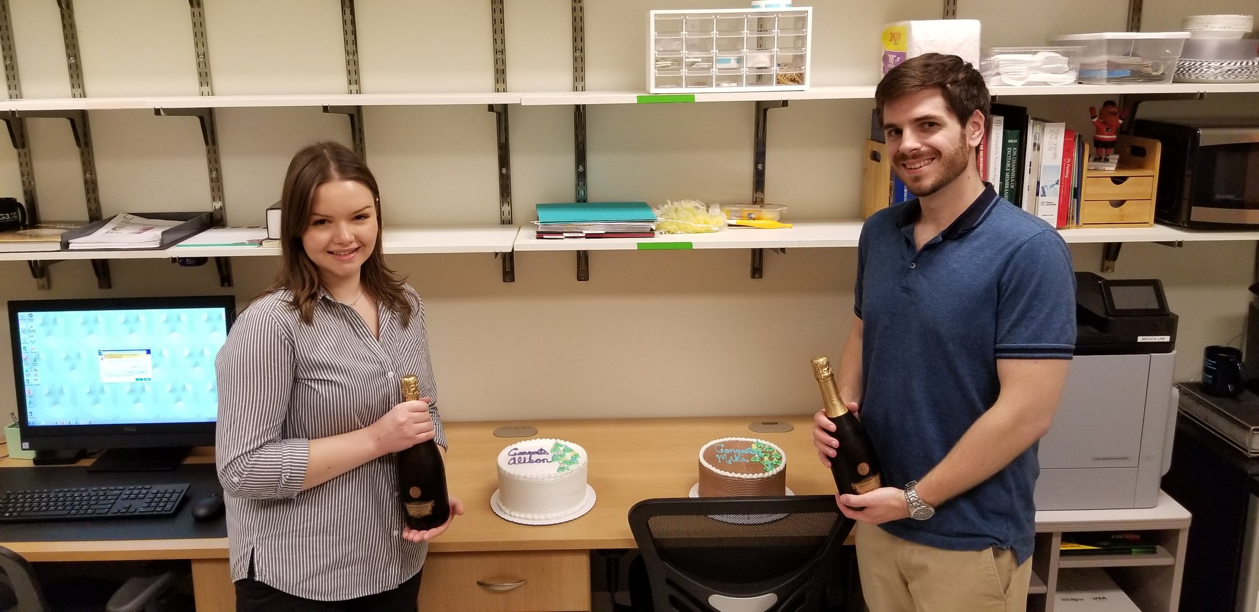 Congrats to Alison and Mike for becoming doctoral candidates!