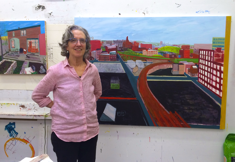 Sarah McEneaney in her studio
