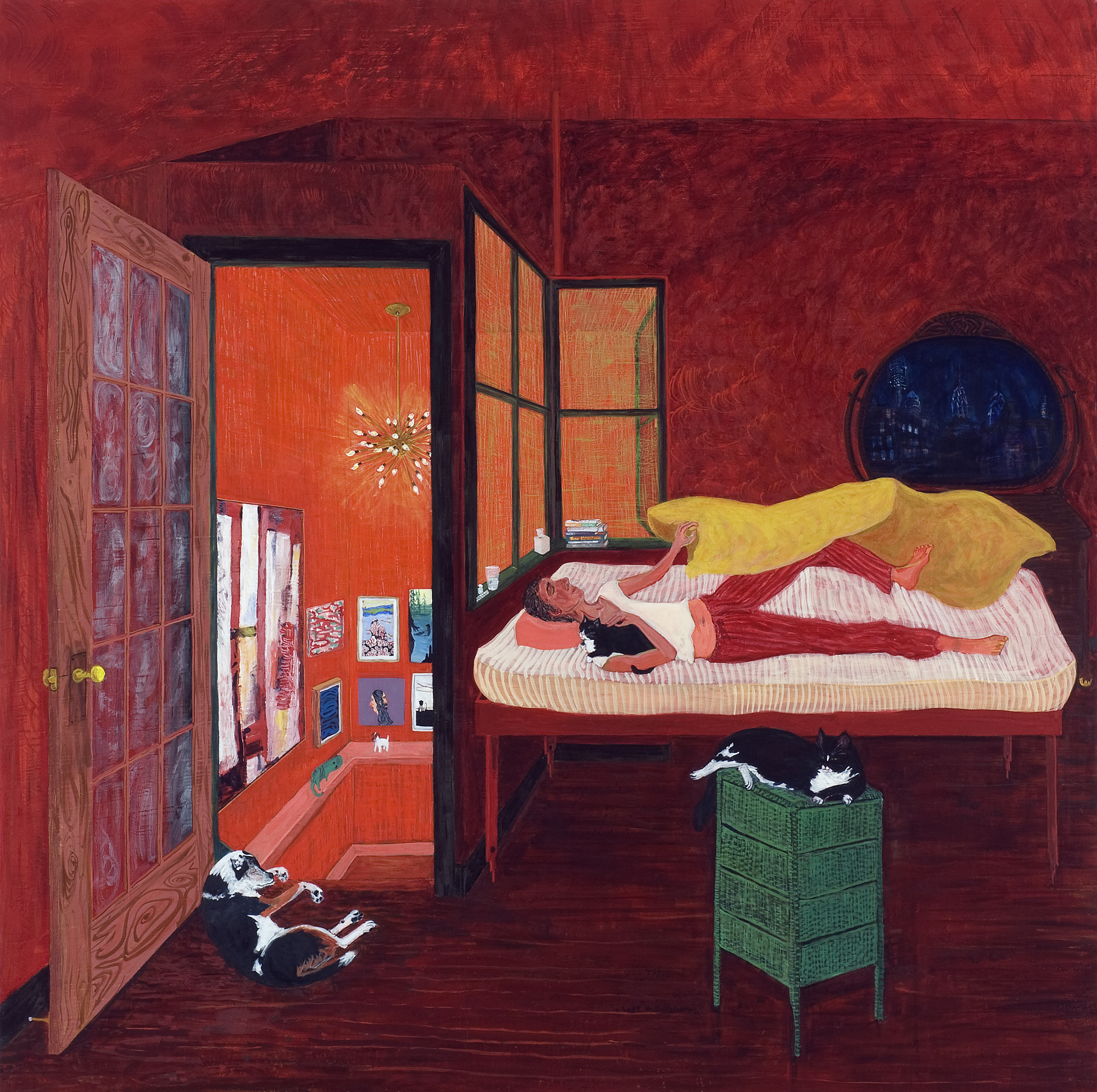Night , 2008, egg tempera on linen, 48 x 48 inches. Courtesy of Locks Gallery
