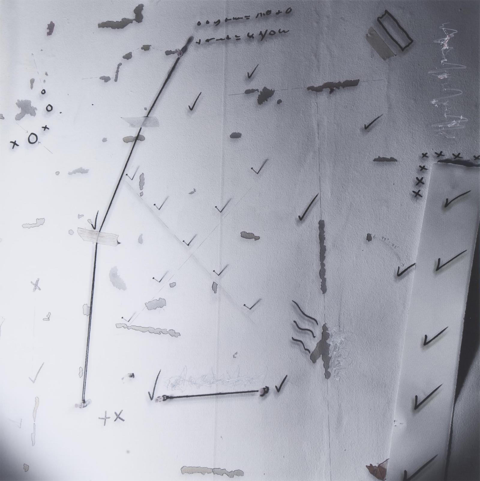 """Wall Complex #8/Nail Check"", 1979, 18""x18"""