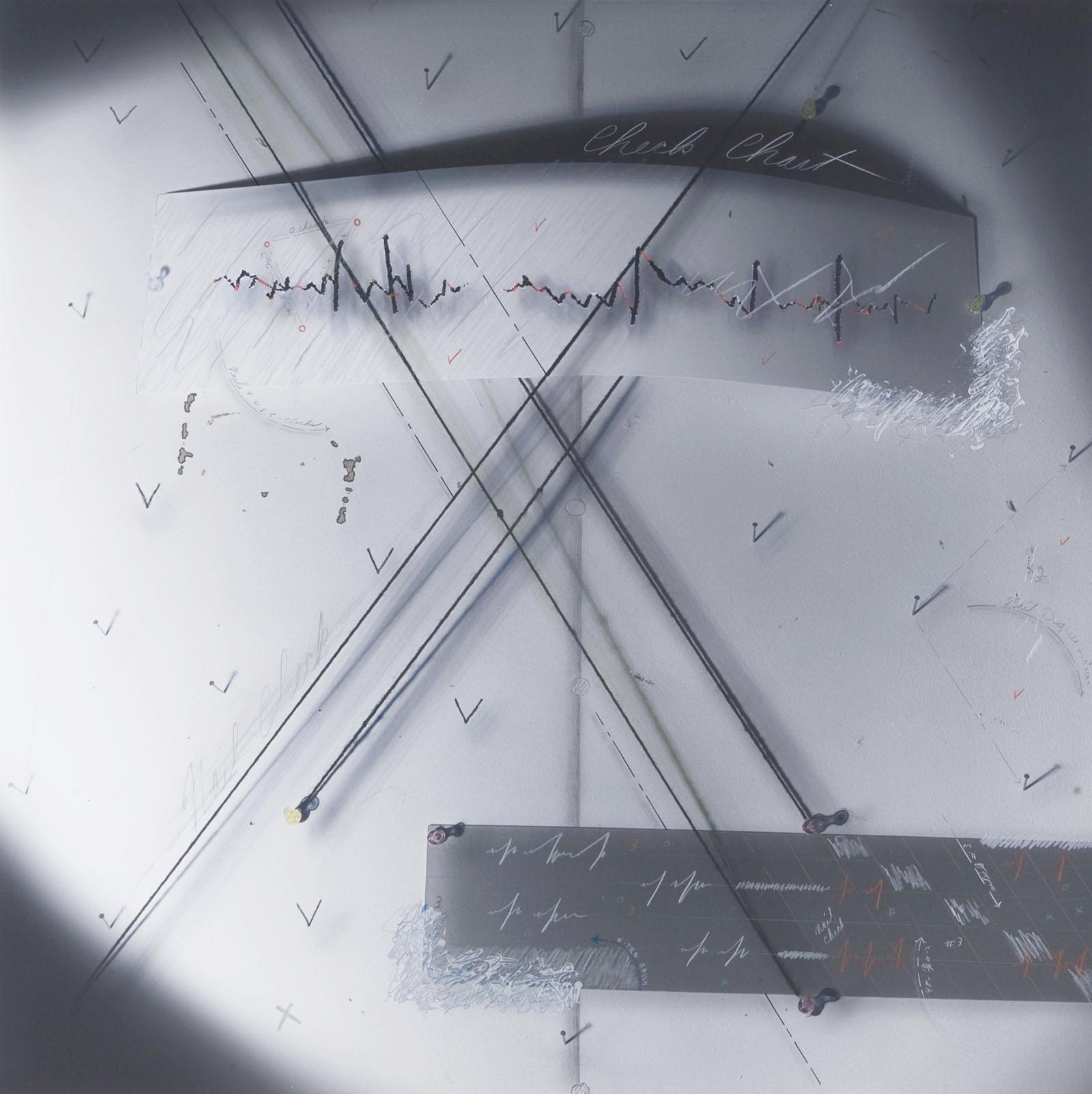 """Flow Chart #3/Nail Check"", 1980, 18""x18"""