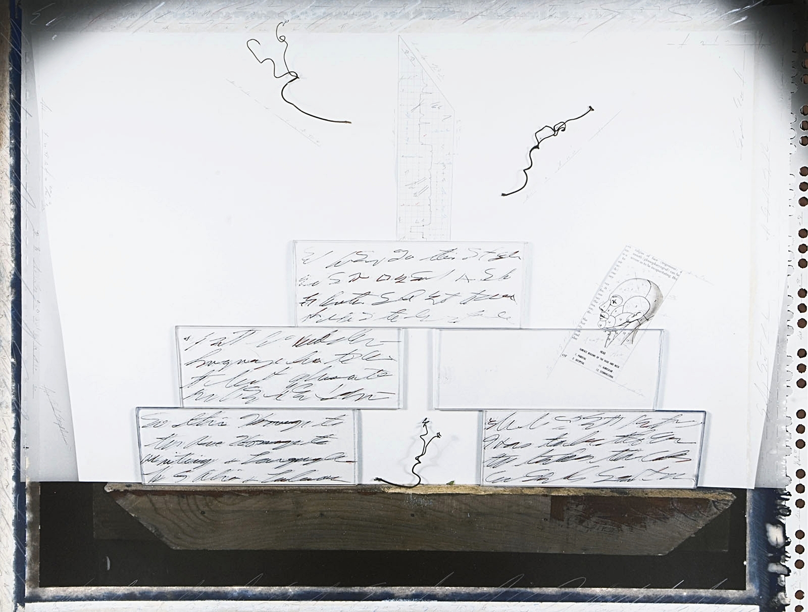 """Chart of Brief Forms #10/Cityscape"", 1989"