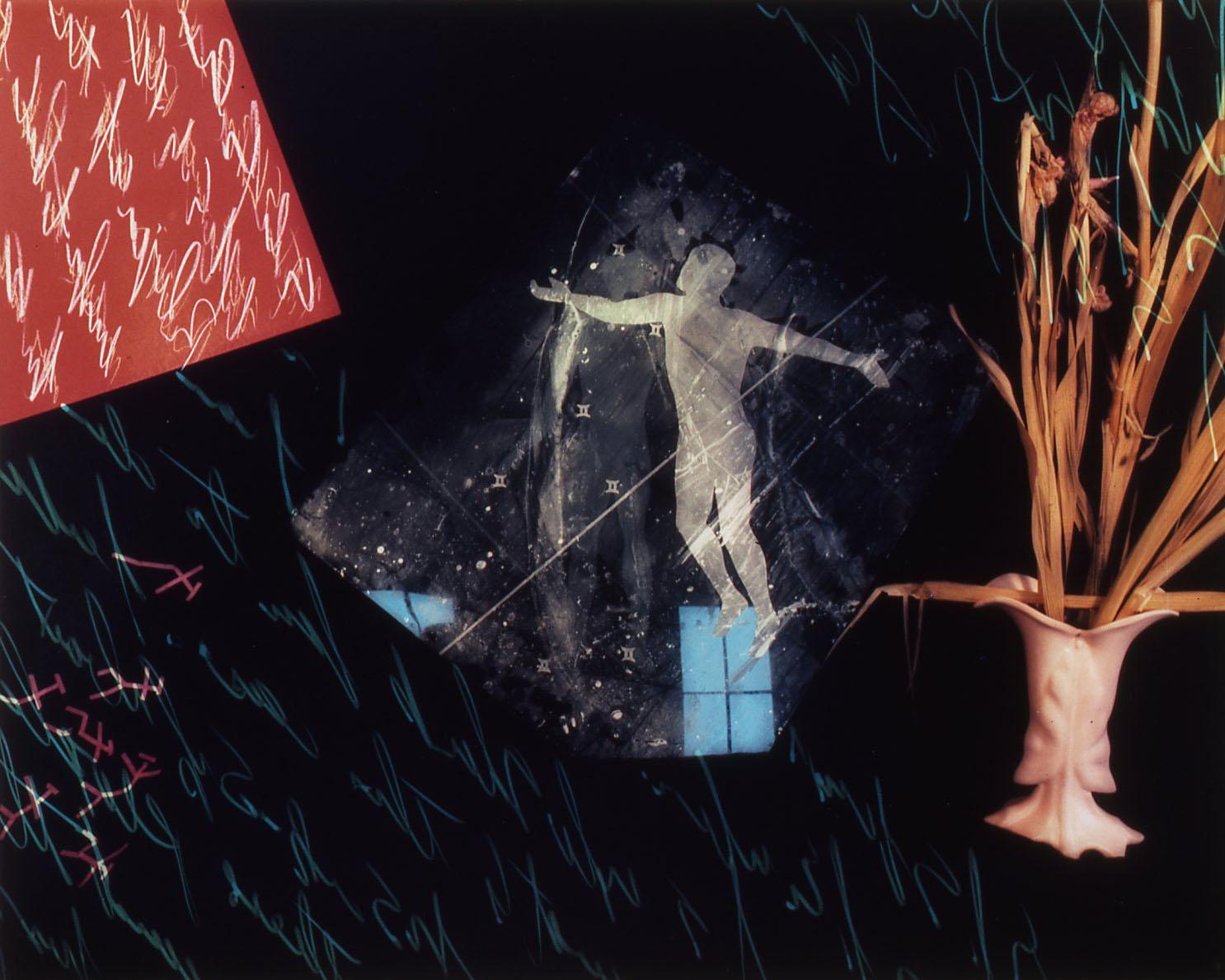 """Studio C Series/Dramatic Figure Emerging from Window"", 1985, 20x24"""