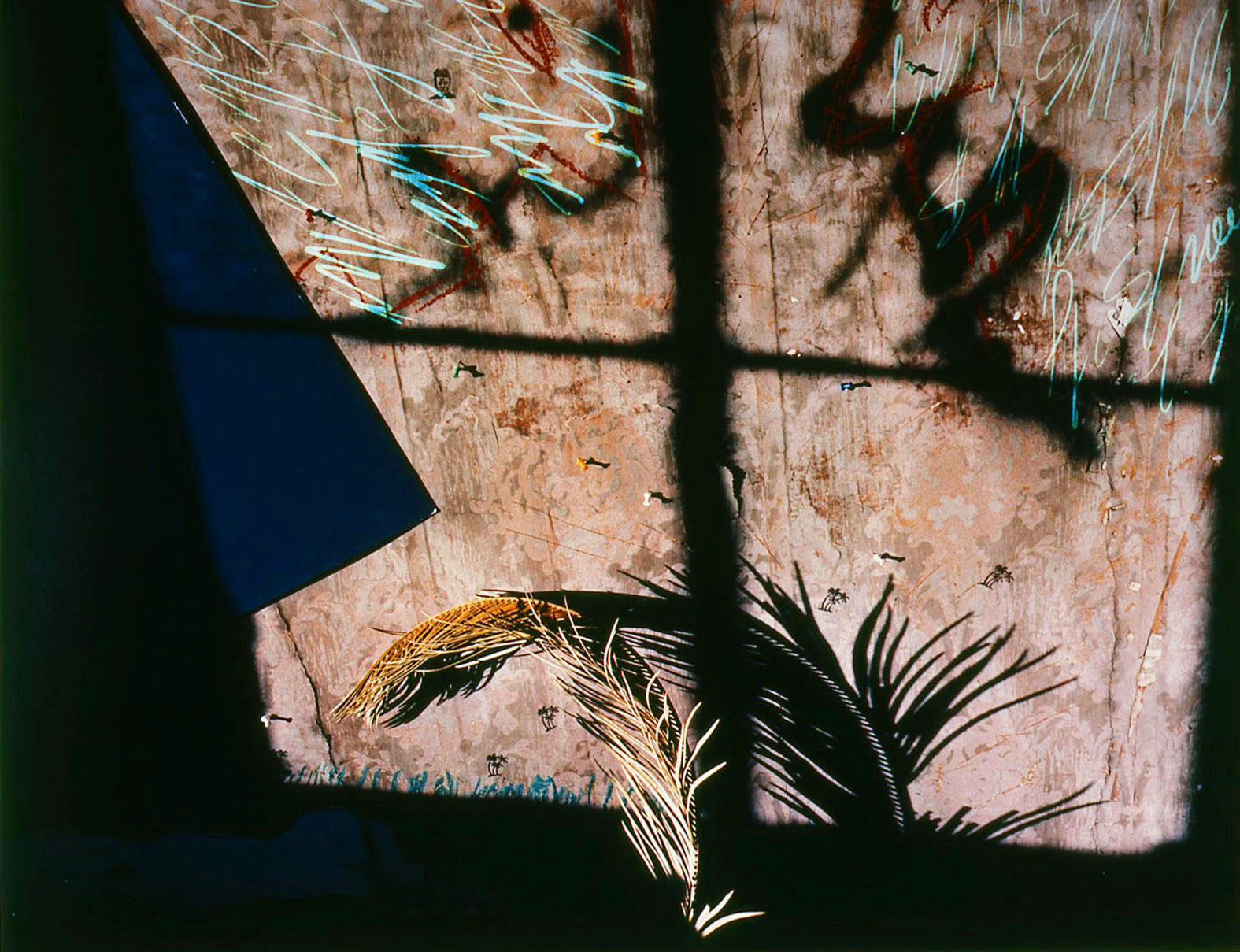 """Studio C Series""/ 2 Faces Talking in Window"", 1985, 20x24"""