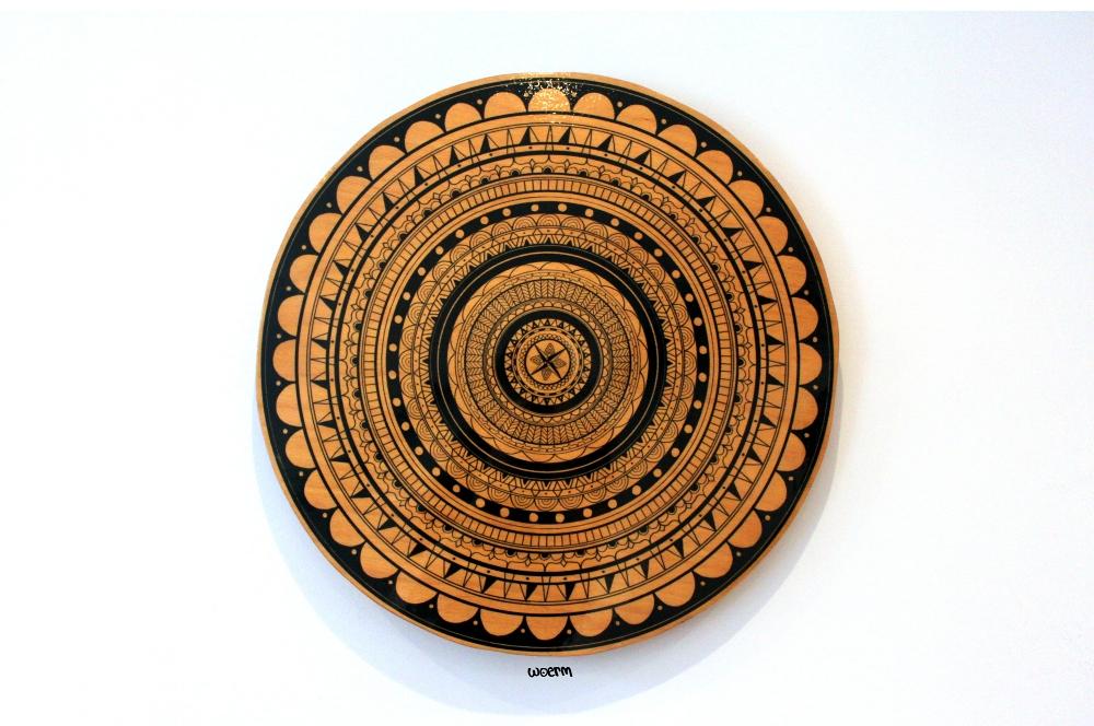Handcut Mandala on wood