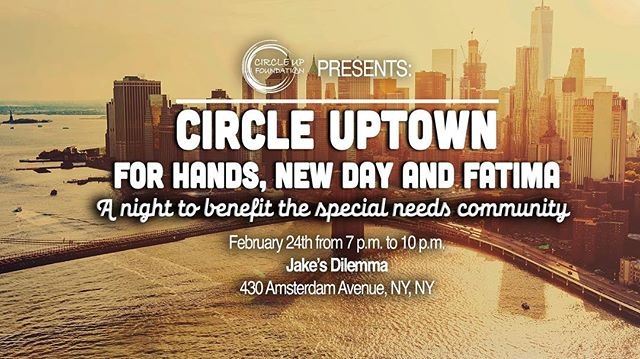 Join Circle Up for a night to benefit some great charities.  All money raised will go to @handsofna @newdaynj and @campfatimaofnj.  The three hour open bar event will include food, drinks, 50/50 raffles, a silent auction and more!  Log on to Circle ups Facebook page to purchase tickets !