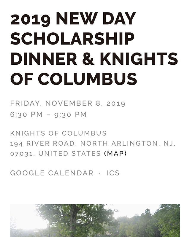 Circle up is proud to sponsor this years @newdaynj scholarship dinner Friday November 8th from 6:30 to 9:30 at the knights of Columbus in North Arlington! Tickets and info at circleupfoundation.org  #charity #service