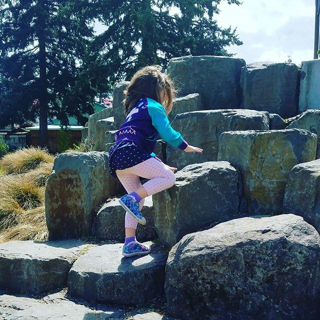 Basalt columns at k park. Courtesy of #GreenWorkspc and #portlandparks.