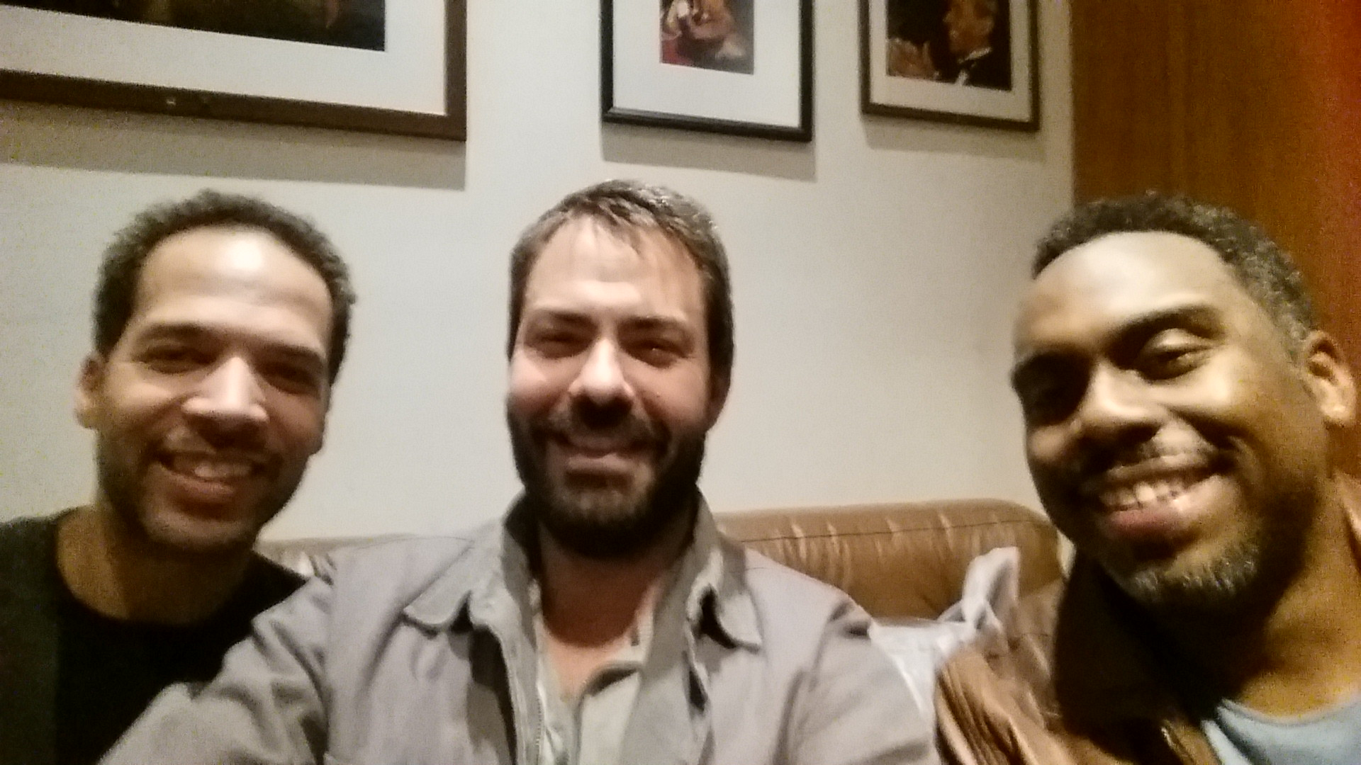 Hanging with my old bandmates Nate Smith & Jesse Milliner after their show with Lee Ritenour at The Blue Note.
