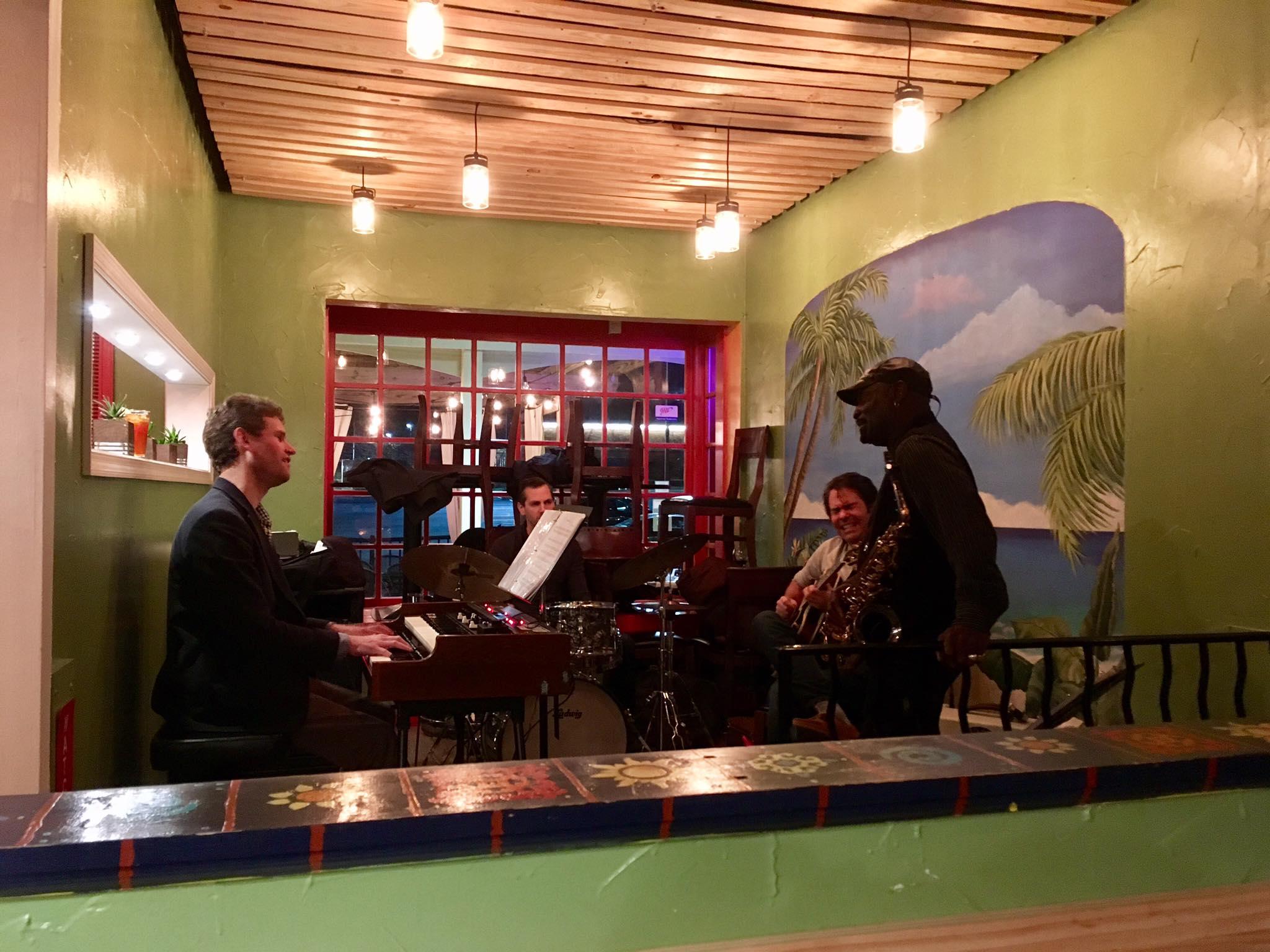 "James ""Saxmo"" Gates sitting in with my organ trio"