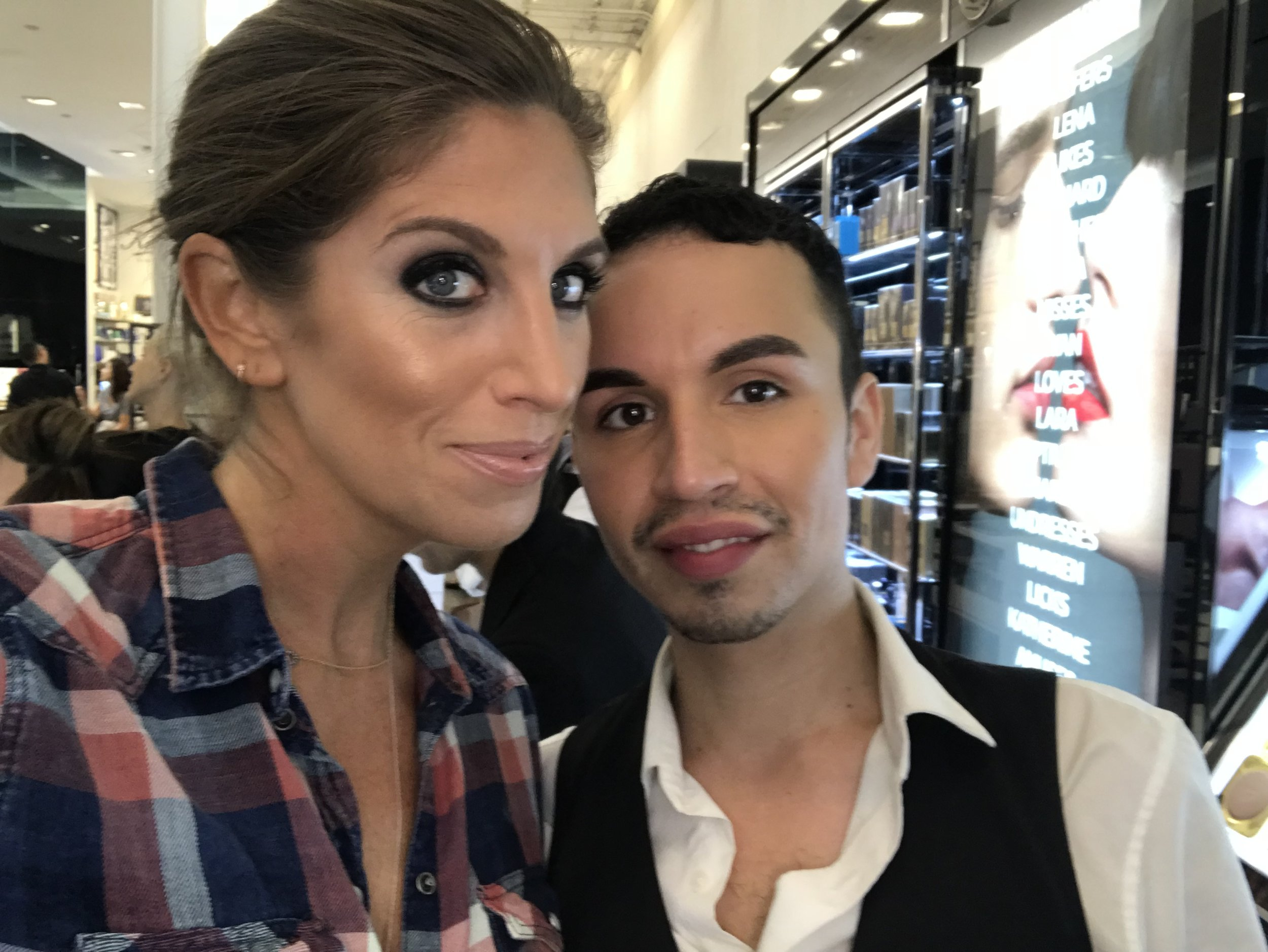 This is Juan. Find him, command him to do your makeup.