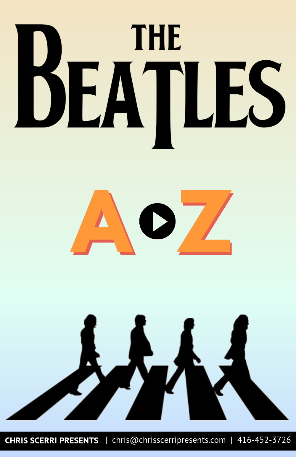 Chris Scerri Presents_The Beatles A-Z_touring poster.png