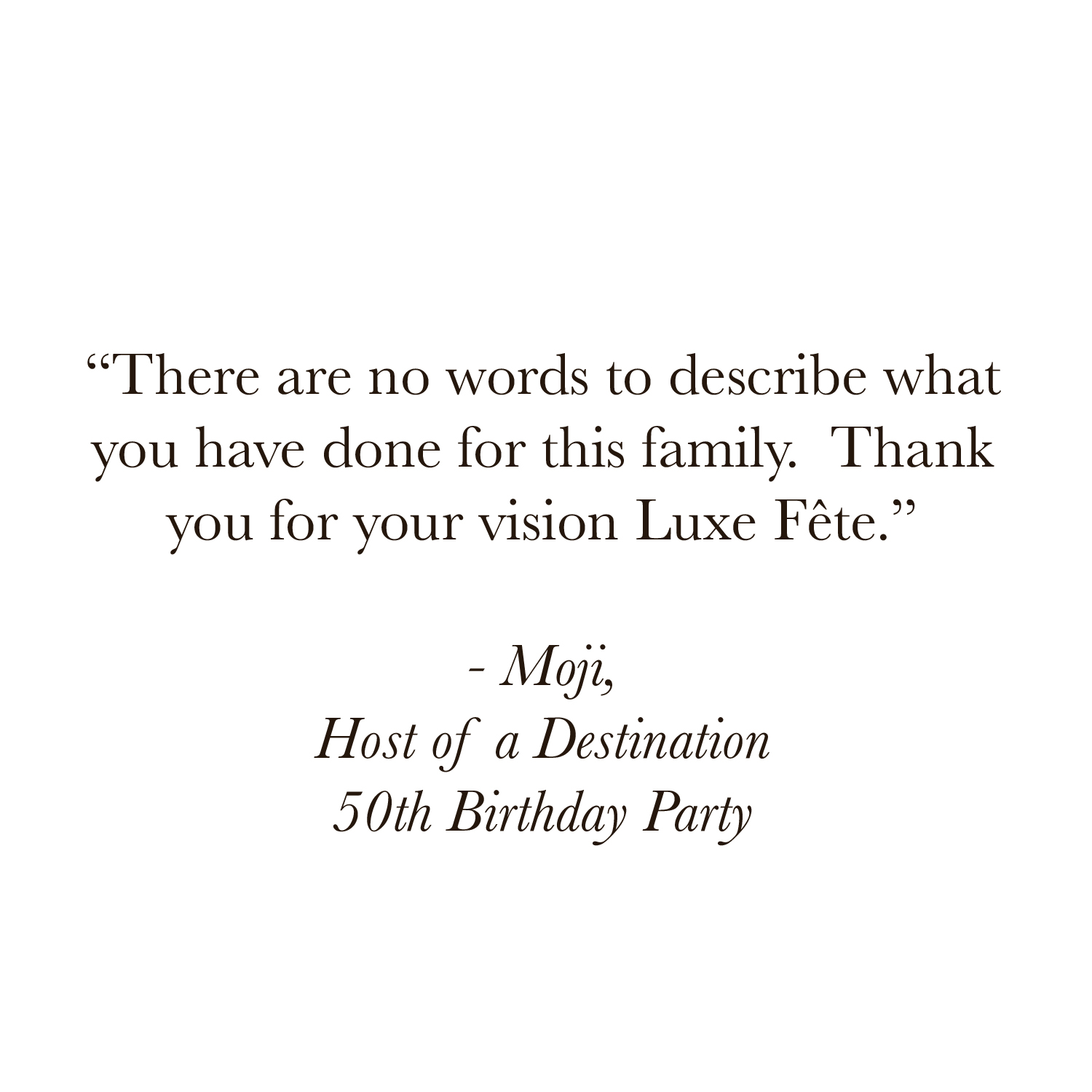 Luxe Fete Client Miami Event Planner 50th Birthday Party