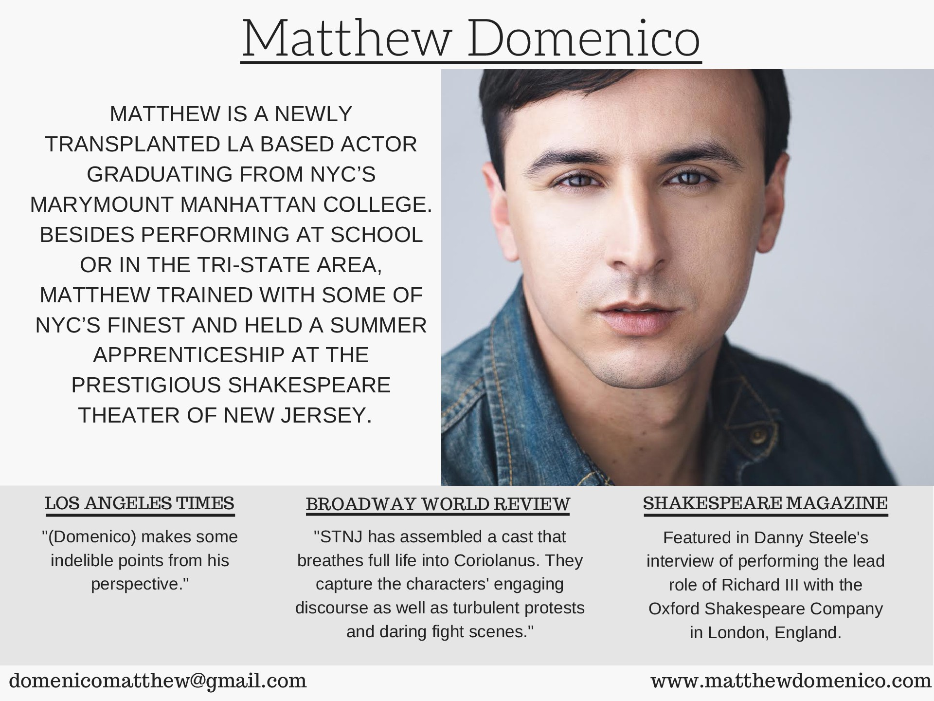 Matthew Domenico EPK