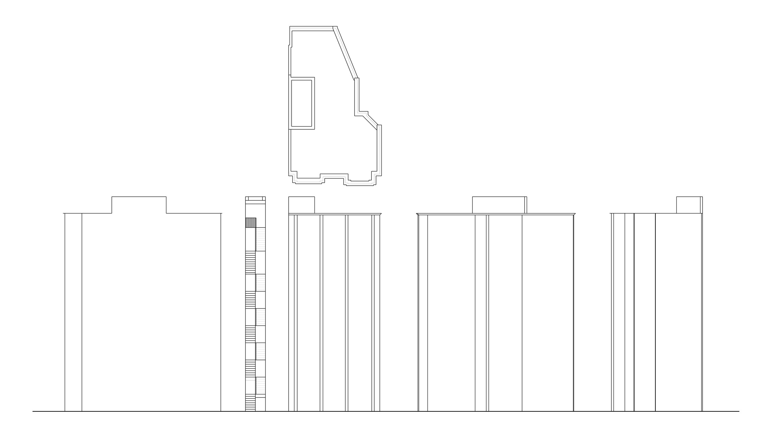 Incomplete elevation drawings of my current place of residence.