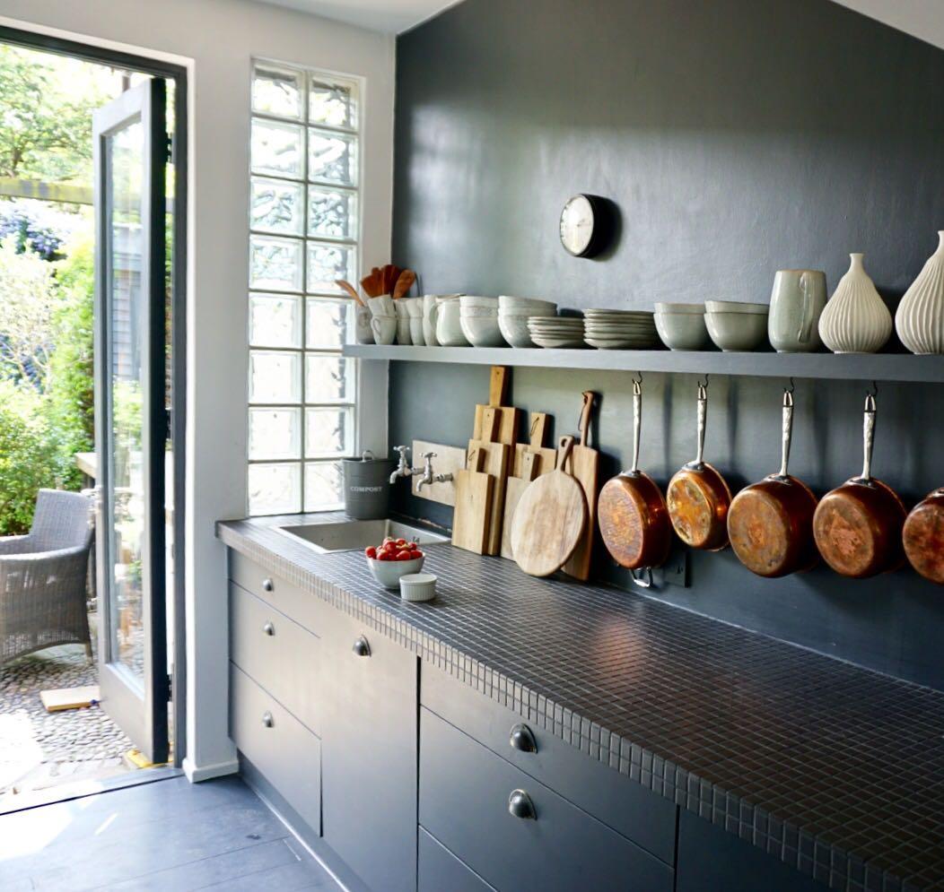 Kitchen, Dark Interiors