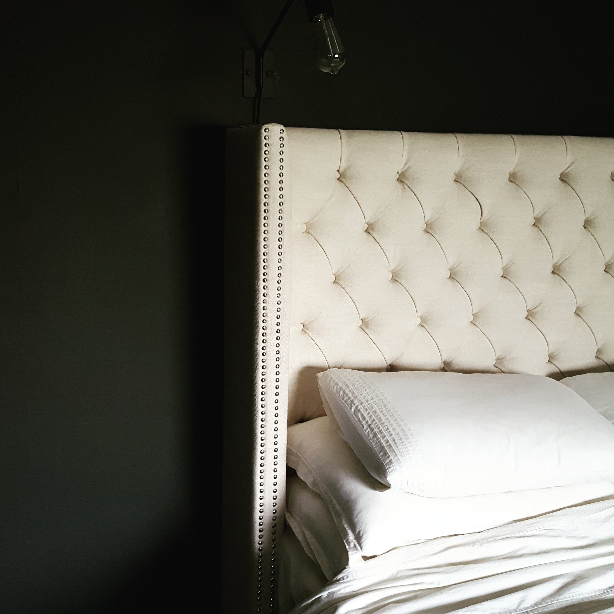 Button Back Bed