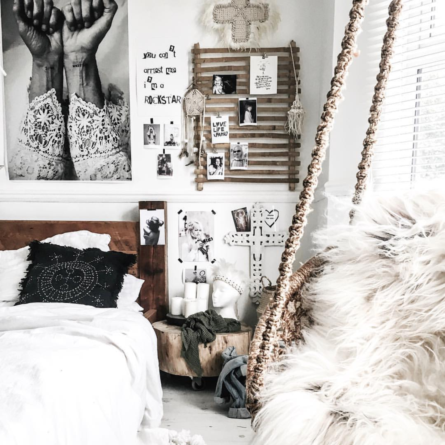 I love how  @kateyoungdesign  uses texture to create warmth in her bedroom