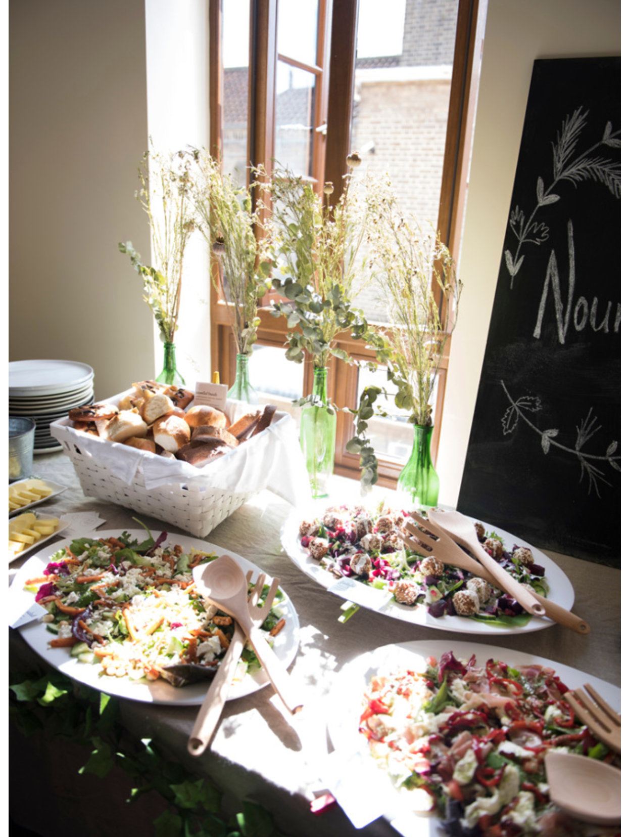 Lunch to nourish our hungry workshoppers