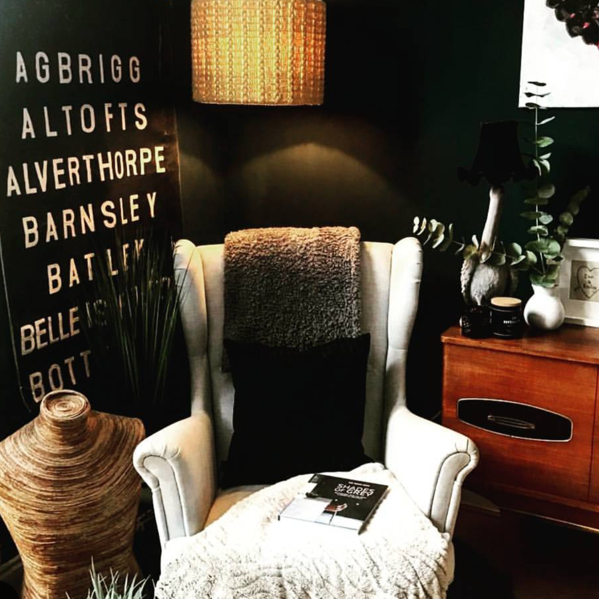 A bus blind from the stall of Malmo & Moss looking fabulous in the home of @keeleytara