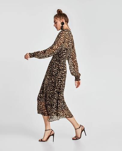 Zara  Leopard Print Dress £70