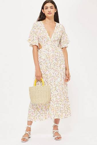 Chiffon floral dress from  Topshop