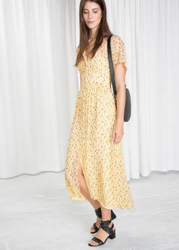 Yellow Print Dress from  & Other Stories