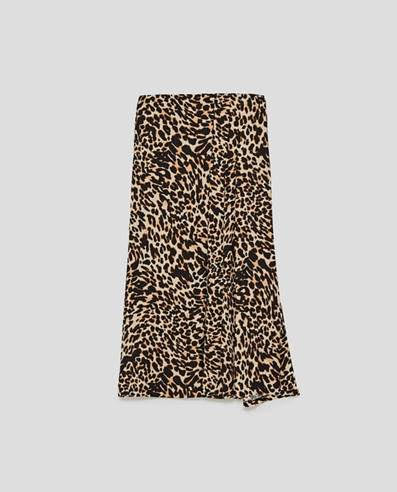 Leopard print skirt from  Zara