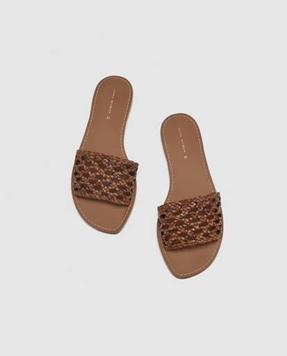 Zara braided sliders