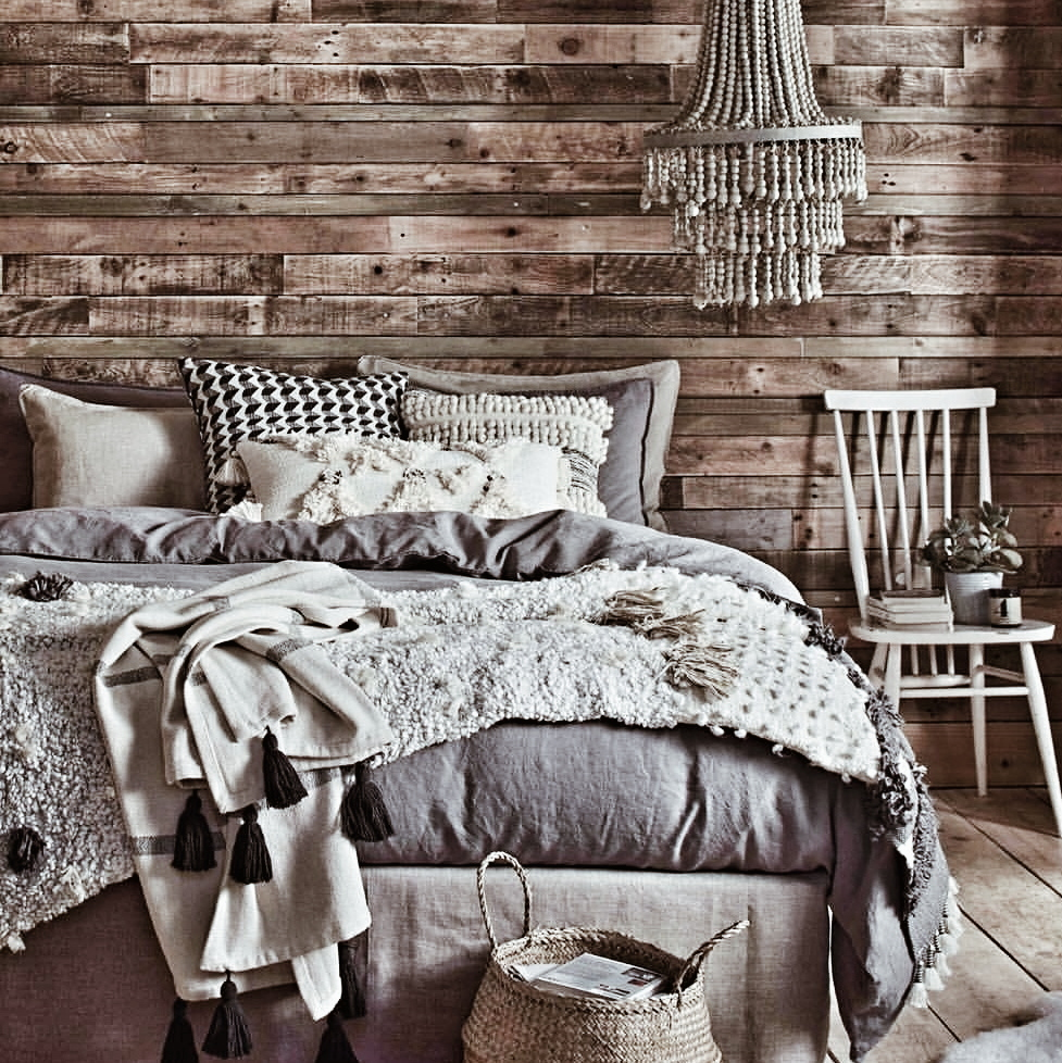 The inspiration behind my wooden wall spotted on the  Herdy Sleep  website