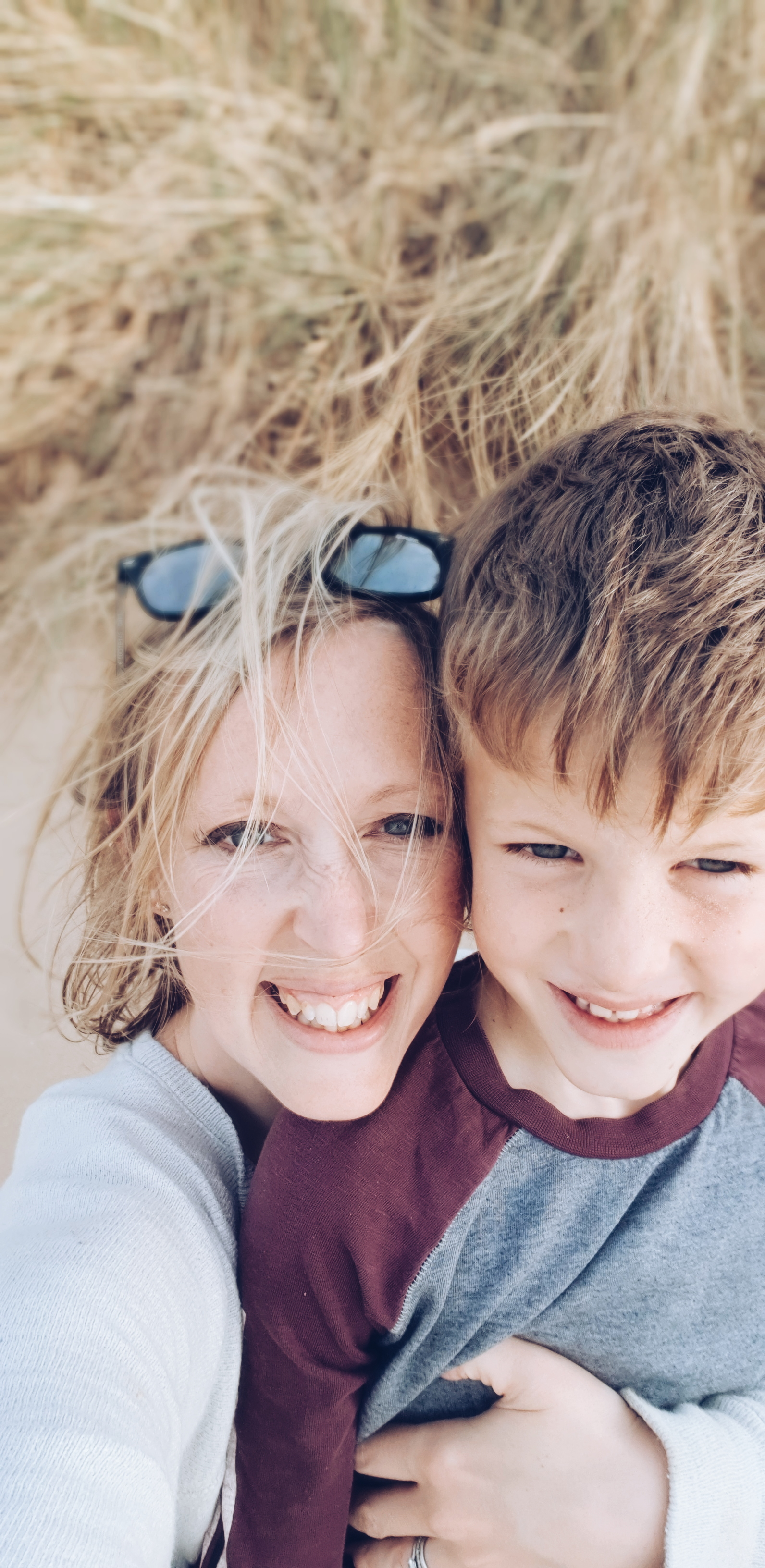 Disclosure 5 minutes after this idyllic mother and son photo was taken he did an emergency poo in a sand dune