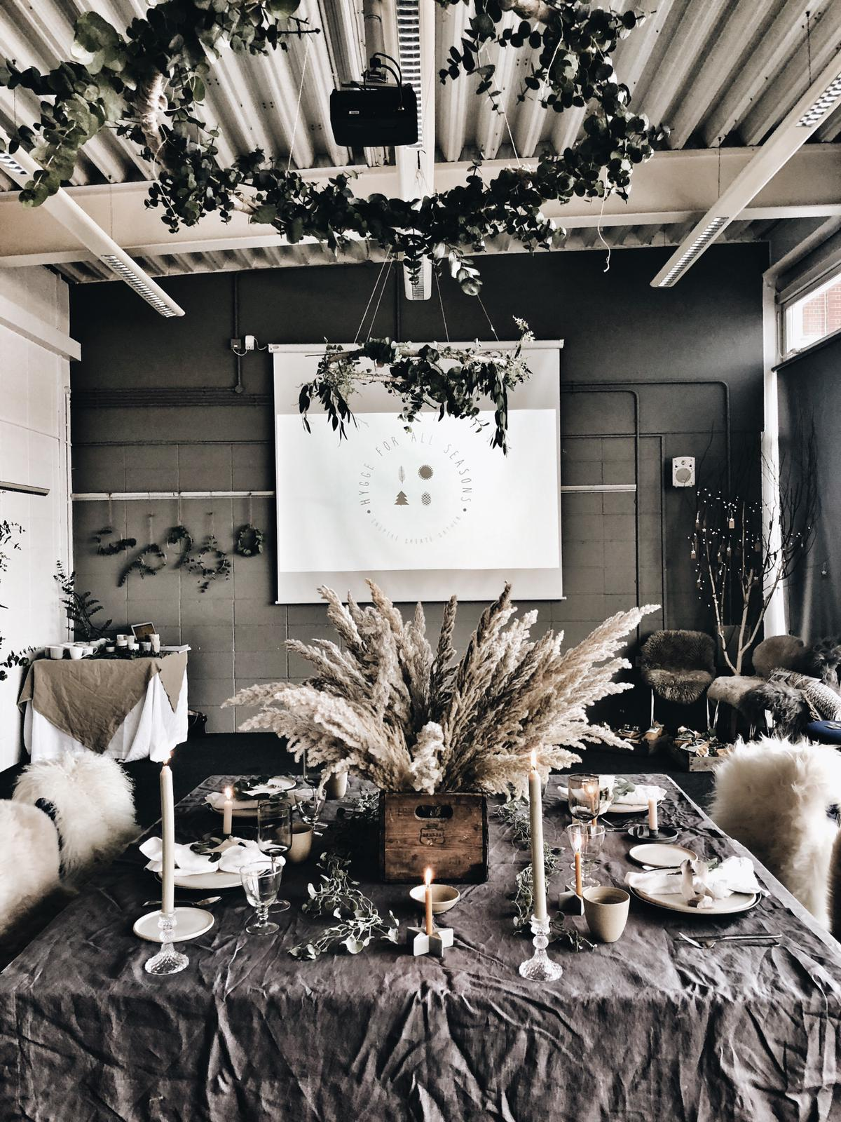 The Christmas table  Reena  and I created at our recent  Hygge for all Seasons  workshop