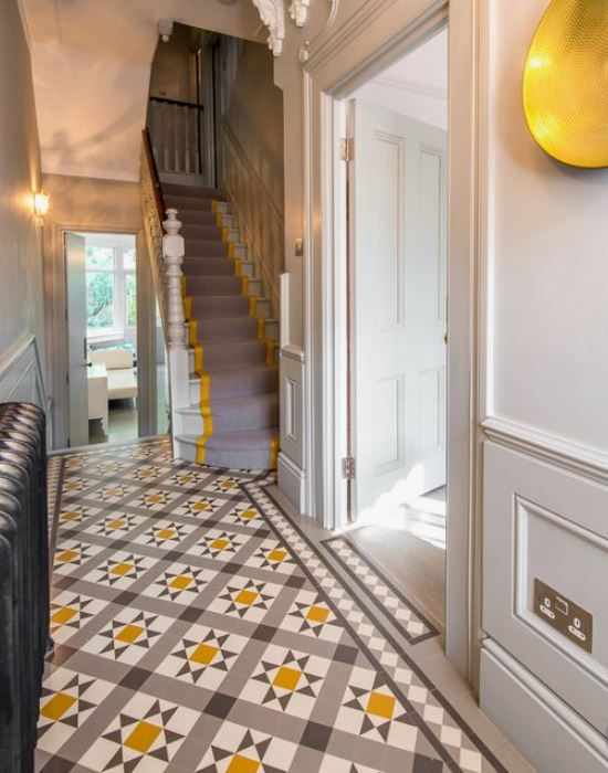 The tiles I spotted in Living Etc (Pic Credit www.balancemedesign.com) which for a brief moment tempted me to go for something bold in the hallway