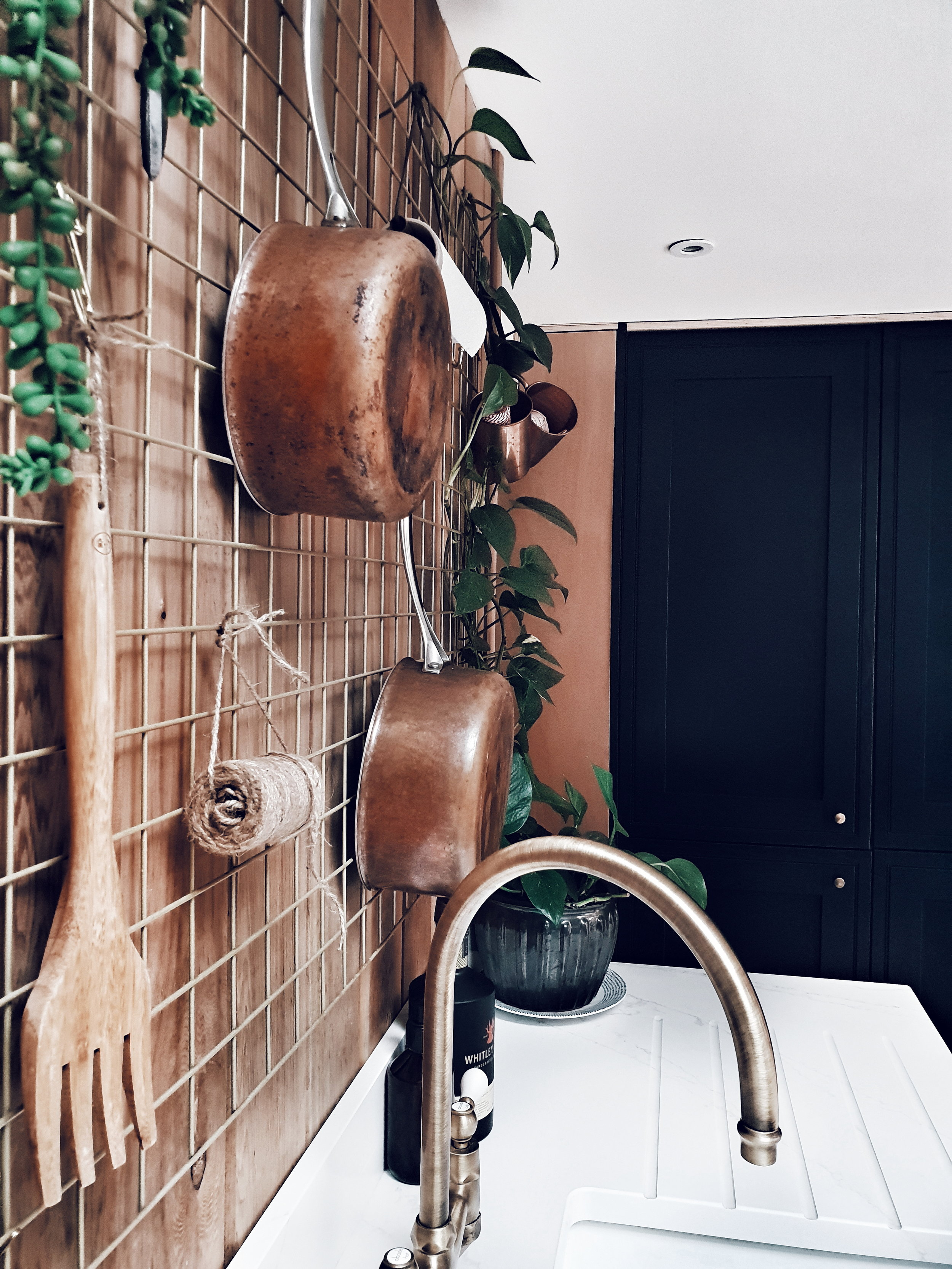 A close up of the brass kitchen tap of my dreams