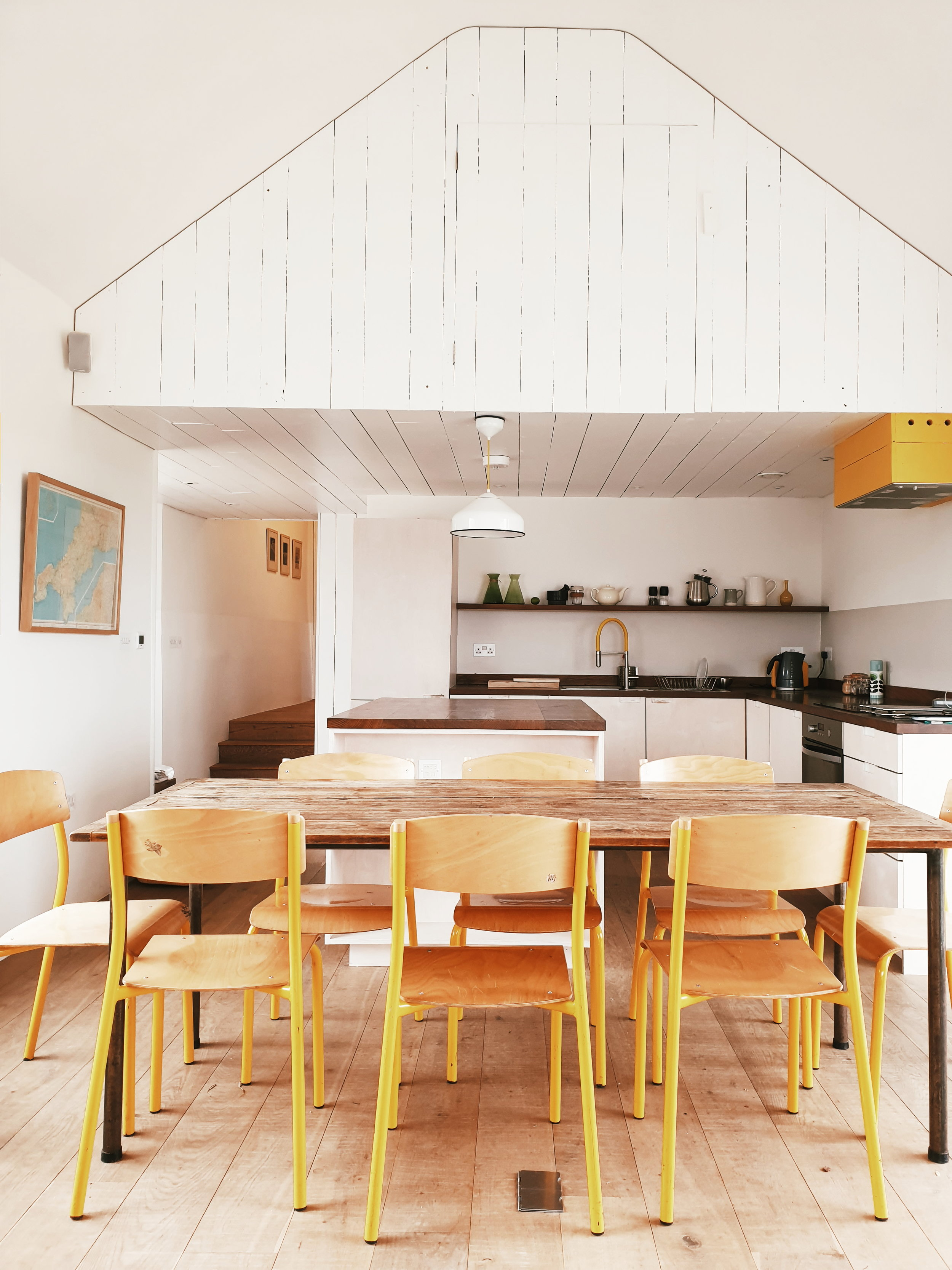 My kitchen for the week was this converted barn in Cornwall