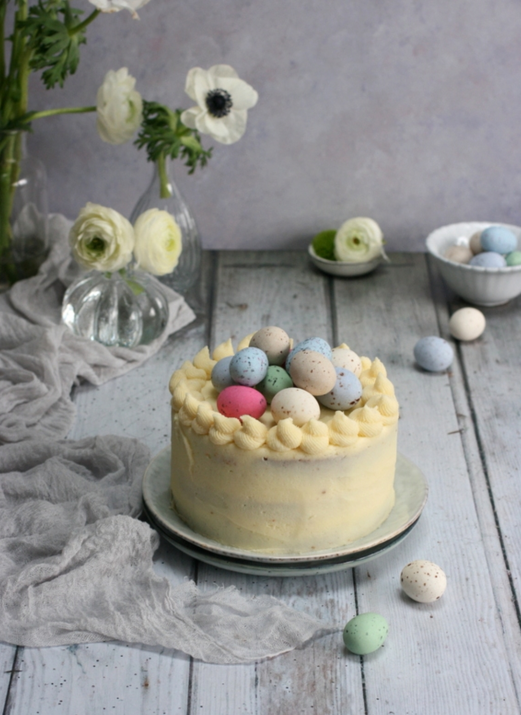 An Easter themed Orange and Cinnamon Layer Cake