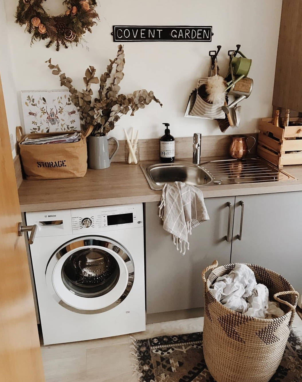 The utility room of my dreams in the home of @thislittlehouse