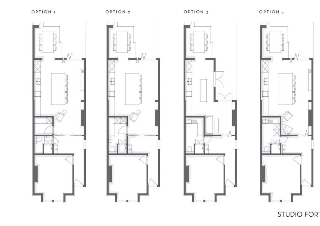 The four floorplans the amazing  Rebecca Wakefield  drew up for me