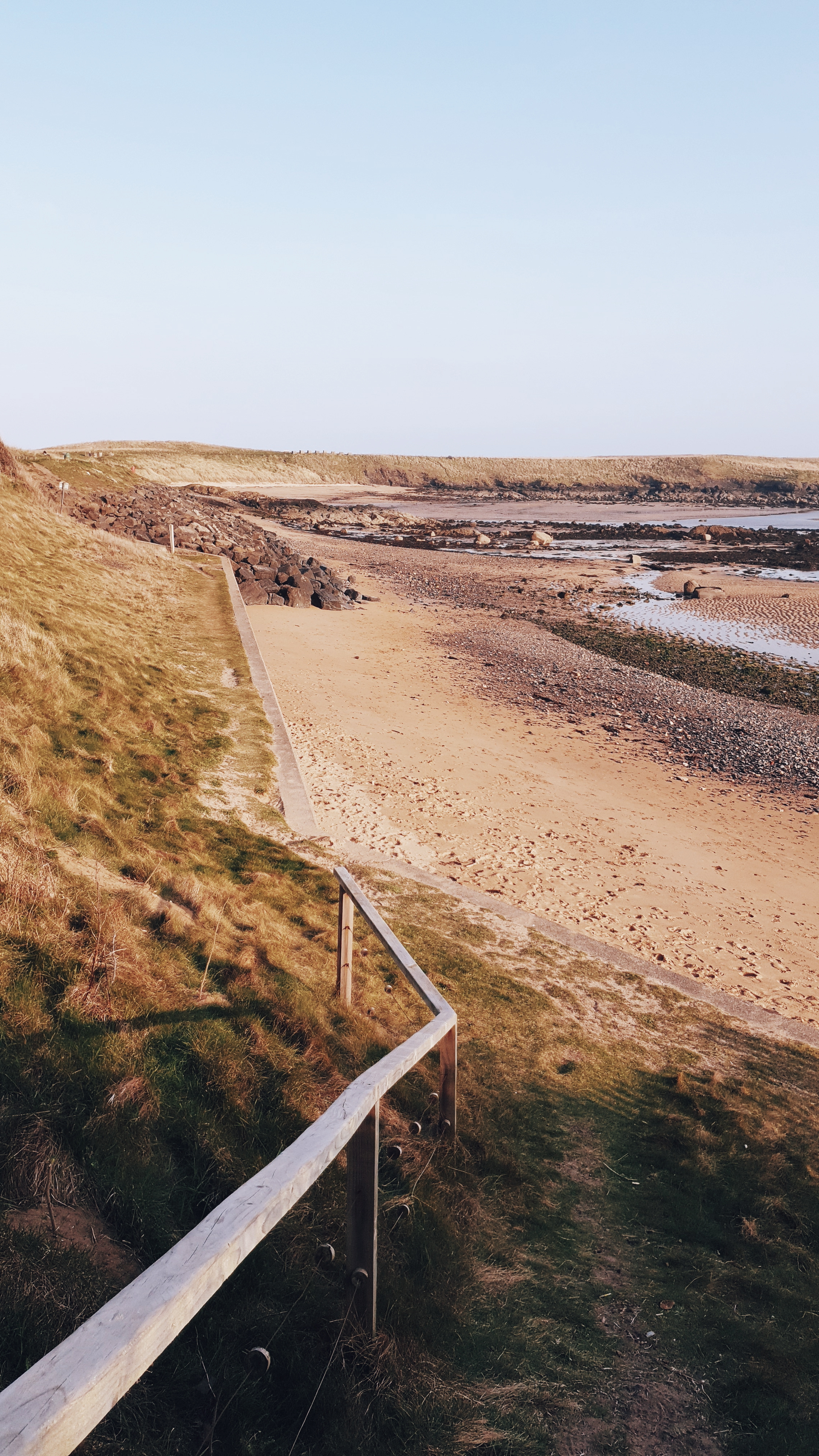 Ruby Bay beach in Elie which our holiday house led directly out onto