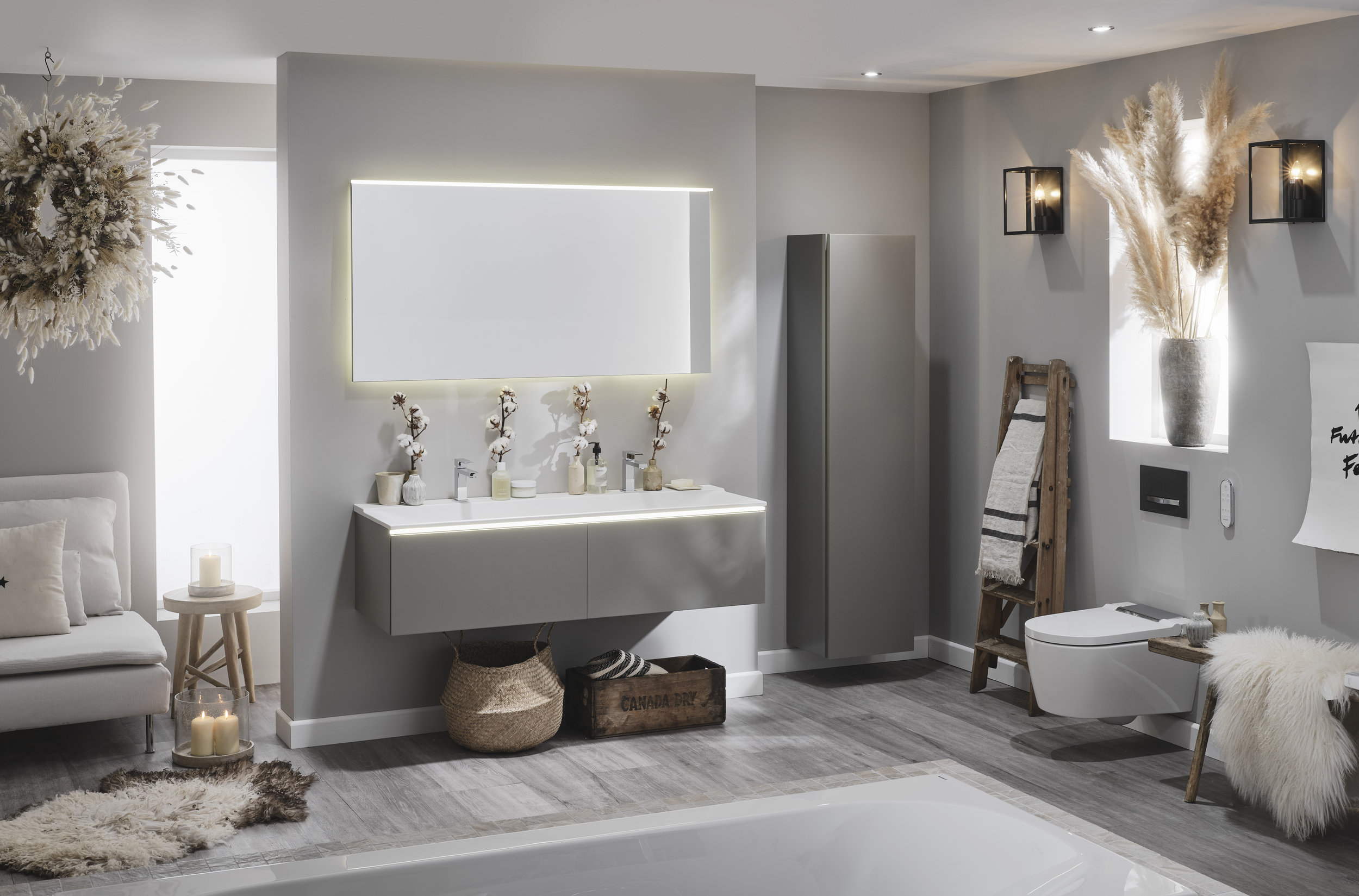 My Rustic Scandi Dream Bathroom scheme