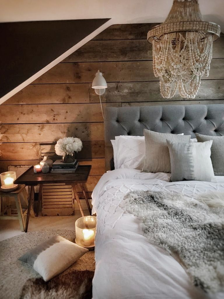 I love how cosy it makes the loft space feel at night